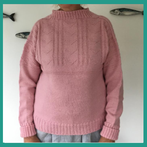 Frangipani Guernsey 5 Ply - Herring Girls Pink