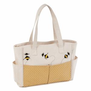 Applique Linen Bee Bag
